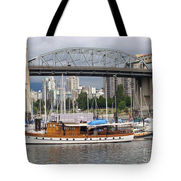 Burrard Street Bridge, Vancouver Tote Bag by Rod Jellison
