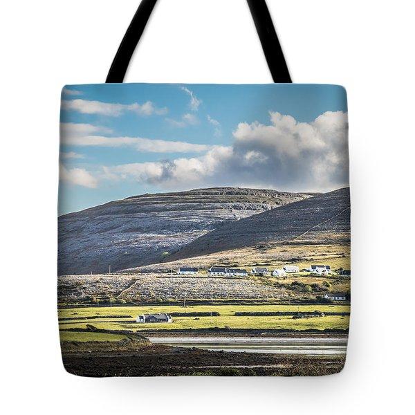 Tote Bag featuring the photograph Burren Landscape by Juergen Klust