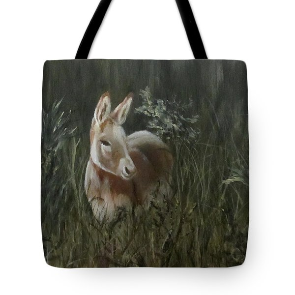 Burro In The Wild Tote Bag by Roseann Gilmore