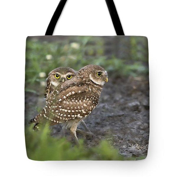 Burrowing Owl Twins Tote Bag