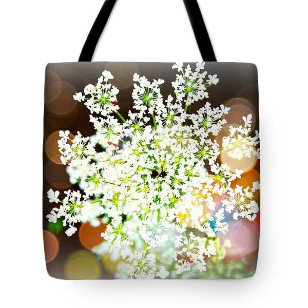 Burst Of Light Kaleidoscope Tote Bag
