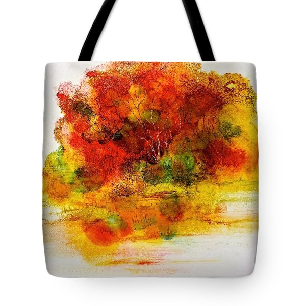 Tote Bag featuring the painting Burst Of Nature IIi by Carolyn Rosenberger