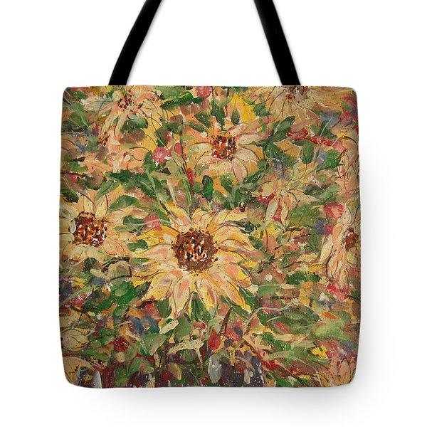Burst Of Sunflowers. Tote Bag