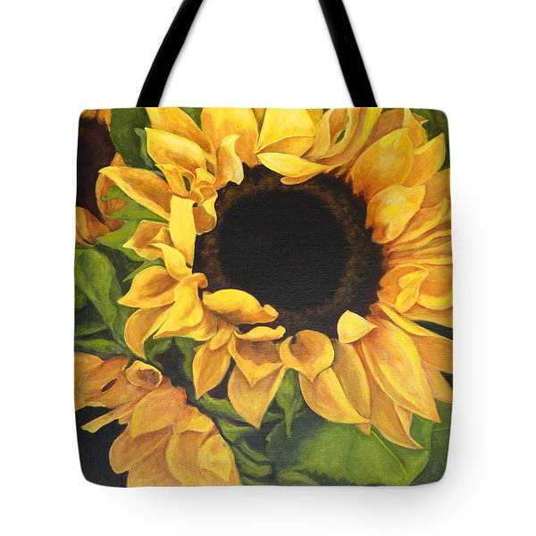 Burst Of Sunflowers Tote Bag