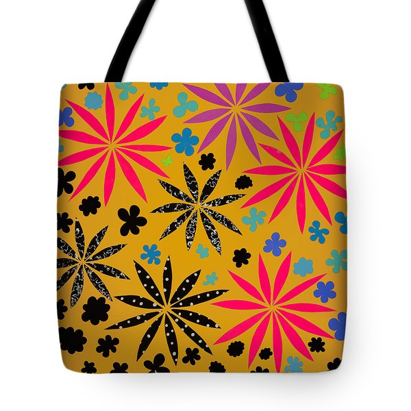 Tote Bag featuring the mixed media Bursting Open by Gloria Rothrock