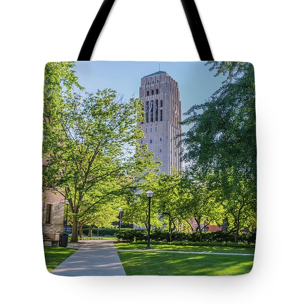 Burton Memorial Tower 1 University Of Michigan  Tote Bag