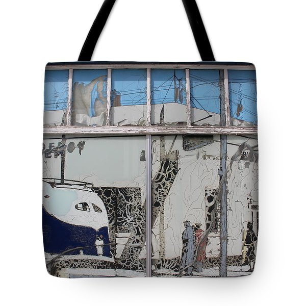 Vintage Bus Depot Sign Tote Bag