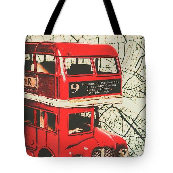 Bus Line Art Tote Bag