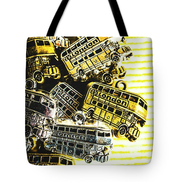Bus Lines Tote Bag