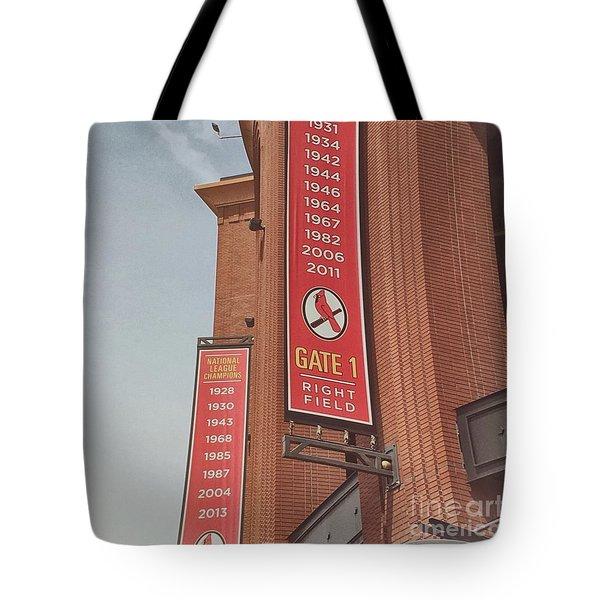 Busch Stadium - Cardinals Baseball Tote Bag