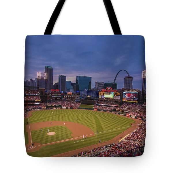 Busch Stadium St. Louis Cardinals Ball Park Village Twilight #3c Tote Bag