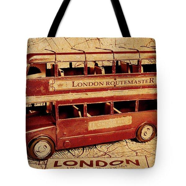Buses Of Vintage England Tote Bag