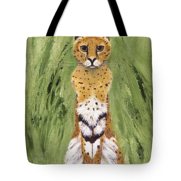 Tote Bag featuring the painting Bush Cat by Jamie Frier
