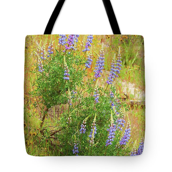 Tote Bag featuring the photograph Bush Lupine by Ram Vasudev
