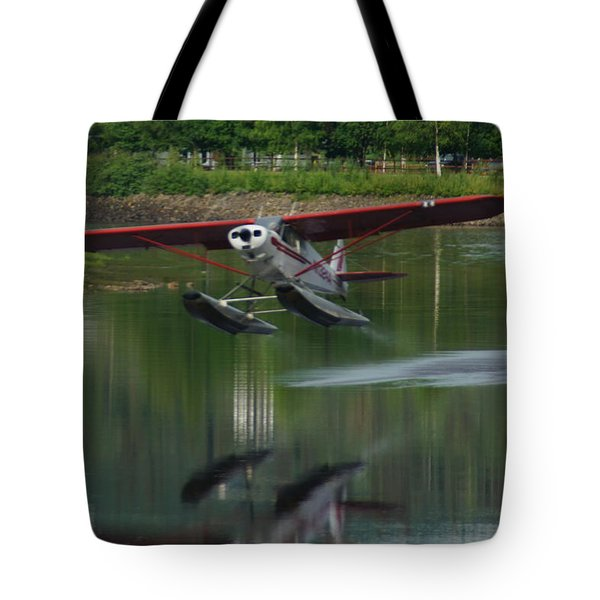 Bush Pilot Lift Off Tote Bag