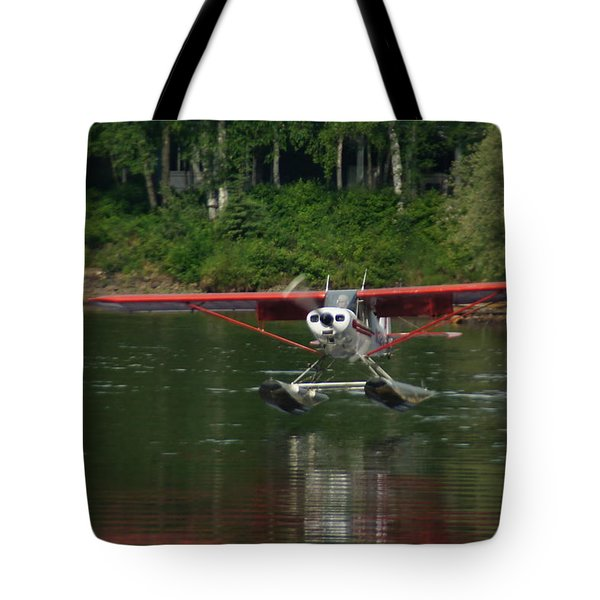 Bush Pilot Touch Down Tote Bag