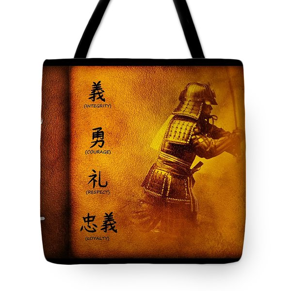 Bushido Way Of The Warrior Tote Bag