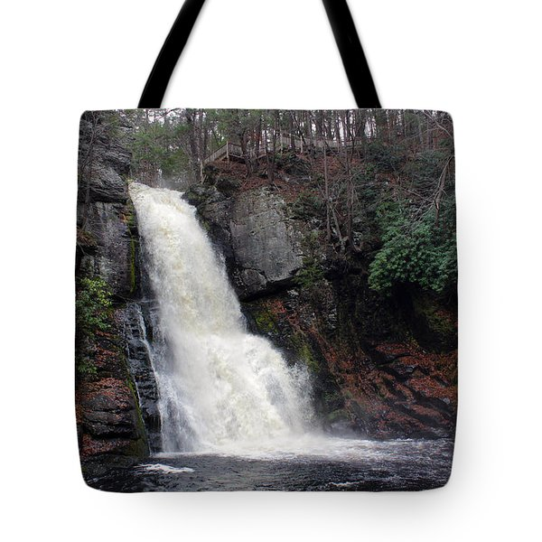 Tote Bag featuring the photograph Bushkill Falls by Linda Sannuti