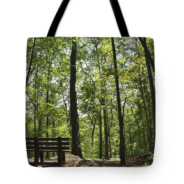 Bushkill Falls Trees Tote Bag