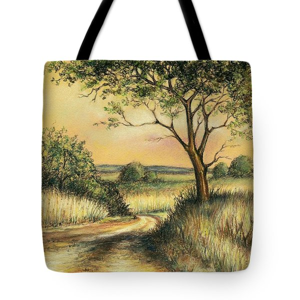 Tote Bag featuring the drawing Bushveld by Heidi Kriel