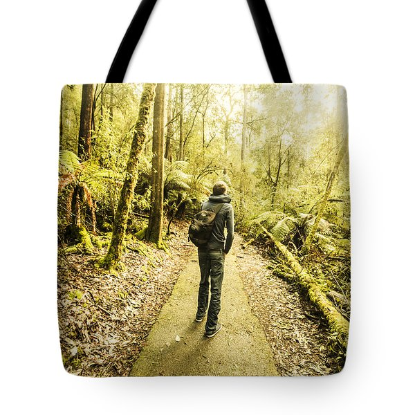 Tote Bag featuring the photograph Bushwalking Tasmania by Jorgo Photography - Wall Art Gallery