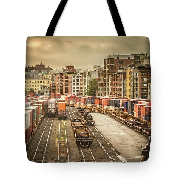 Tote Bag featuring the photograph Busines End Of The City... by Russell Styles