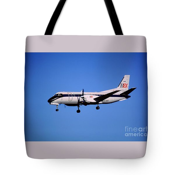 Business Express, Delta Connection, N353be, Bex Saab 340b Tote Bag