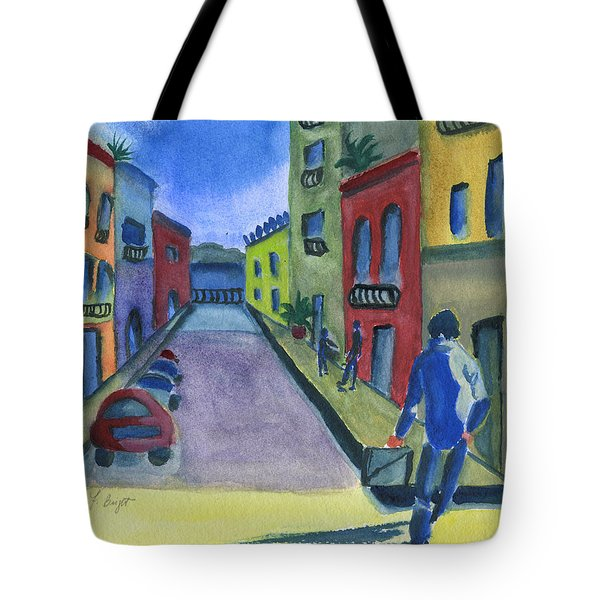 Business In Old San Juan Tote Bag by Frank Bright