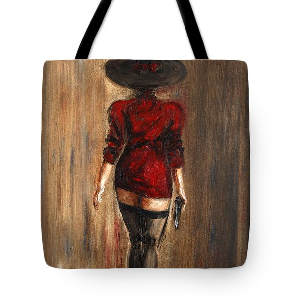 Business Lady Tote Bag by Arturas Slapsys