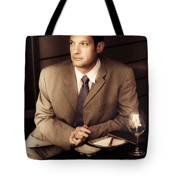 Business Man At Corporate Function Tote Bag
