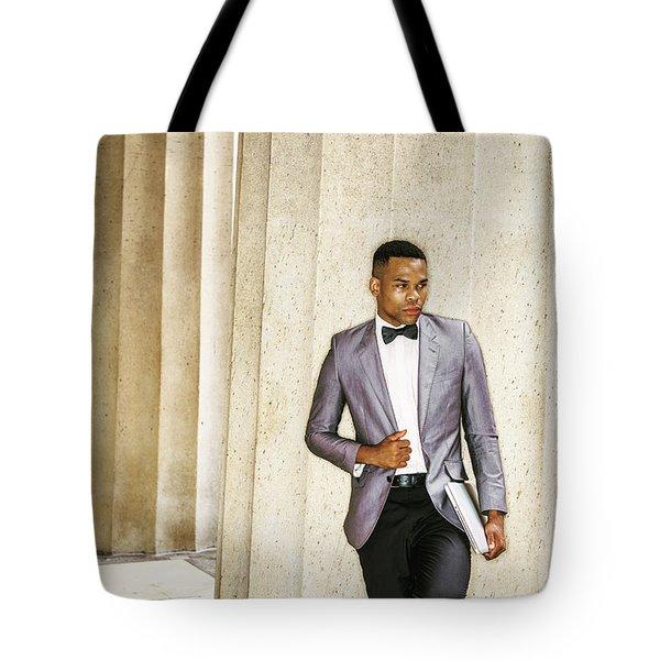 Black Businessman Tote Bag