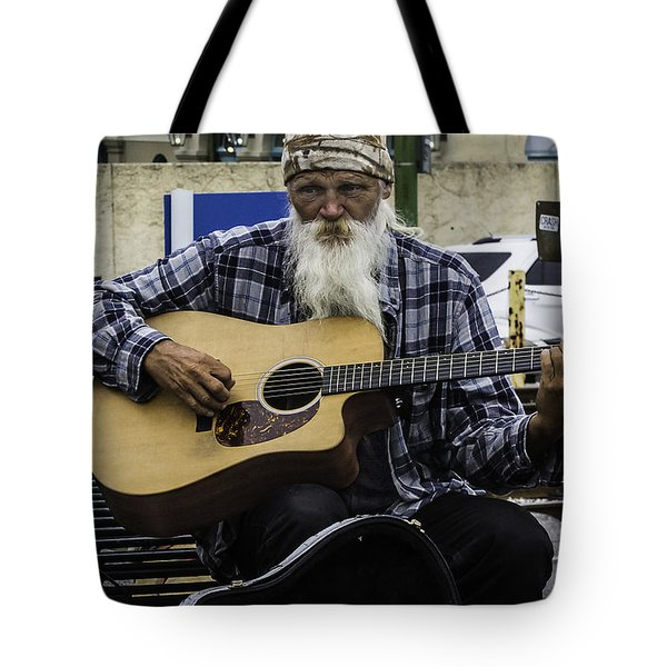 Busking In New Orleans, Louisiana Tote Bag