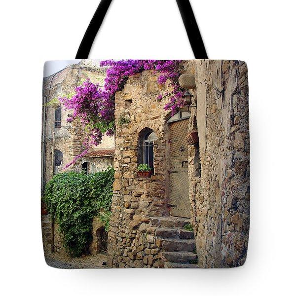 Bussana Vecchia Street Tote Bag