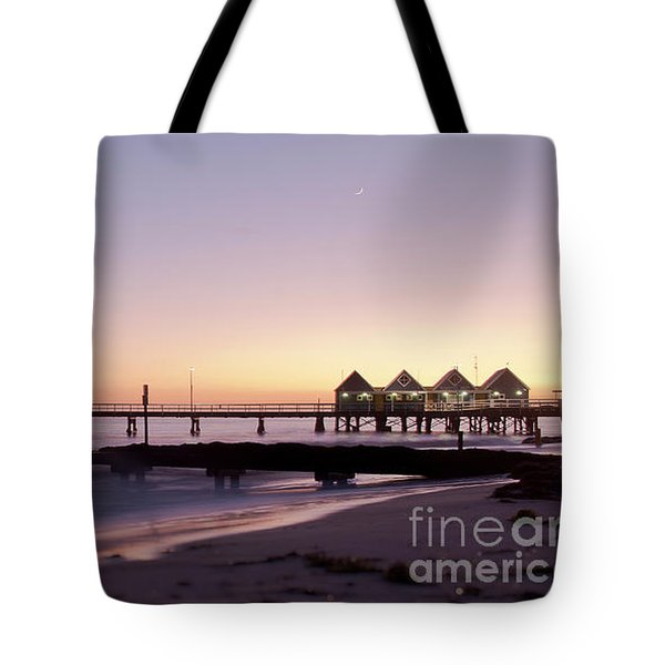 Tote Bag featuring the photograph Busselton Jetty Sunrise by Ivy Ho