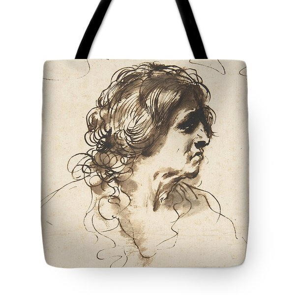 Bust Of A Man Facing Right Tote Bag