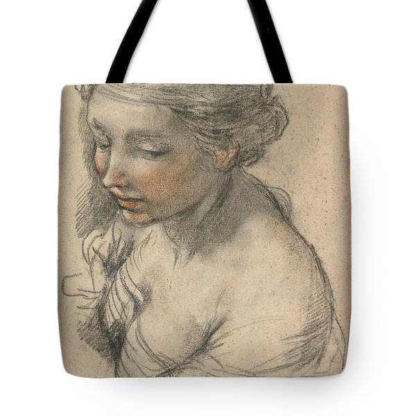 Bust Of A Young Woman Turned To The Left Tote Bag