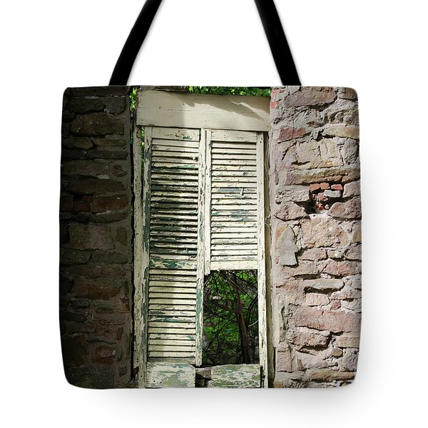Tote Bag featuring the photograph Busted Shutter In The Shaddows  by Bill Cannon