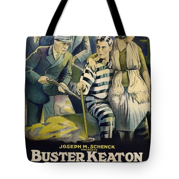 Buster Keaton In Convict 13 1920 Tote Bag