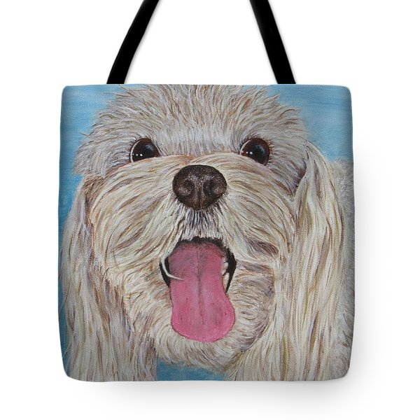 Tote Bag featuring the painting Buster by Nancy Nale