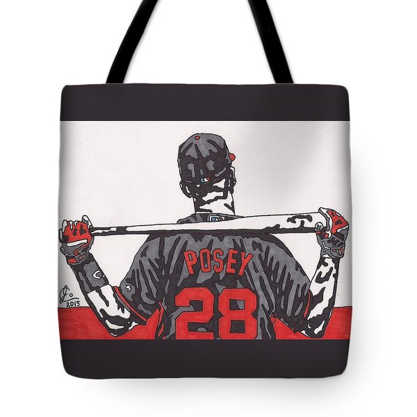 Buster Posey Tote Bag by Jeremiah Colley