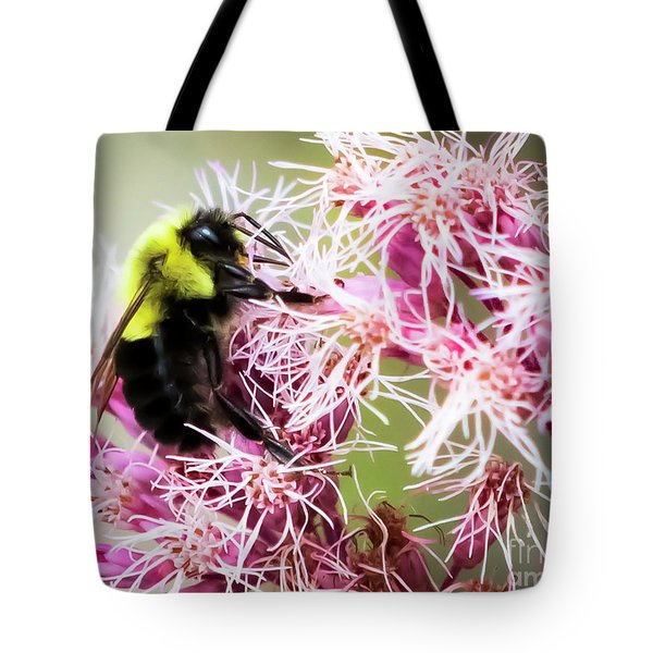 Tote Bag featuring the photograph Busy As A Bumblebee by Ricky L Jones