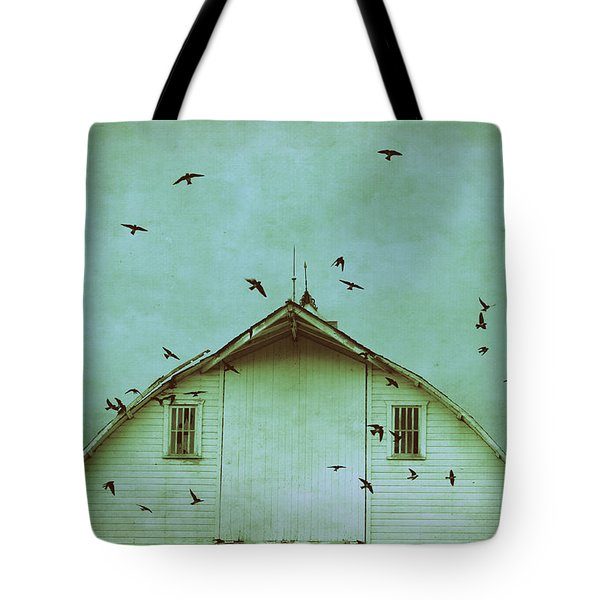 Busy Barn Tote Bag by Julie Hamilton