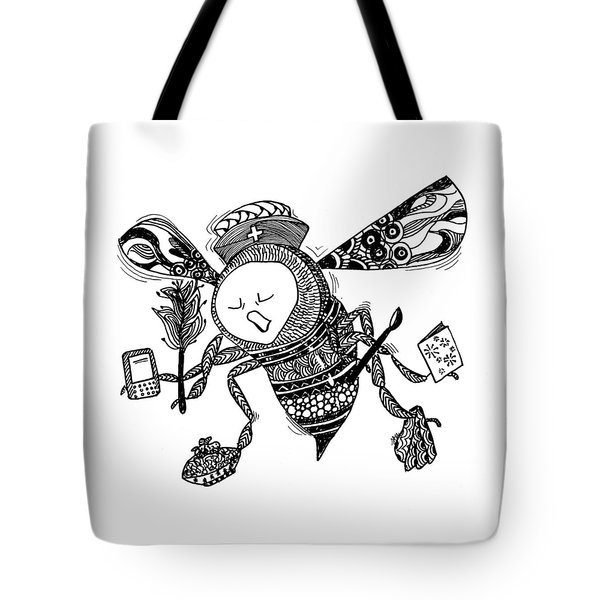 Busy Bee Tote Bag by Jan Steinle