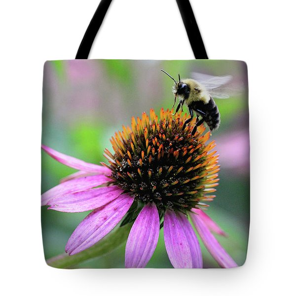 Tote Bag featuring the photograph Busy Bee by Trina Ansel