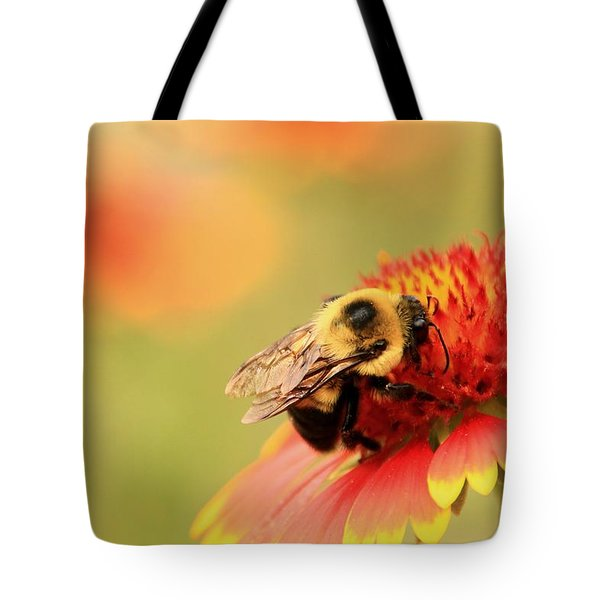 Tote Bag featuring the photograph Busy Bumblebee by Chris Berry