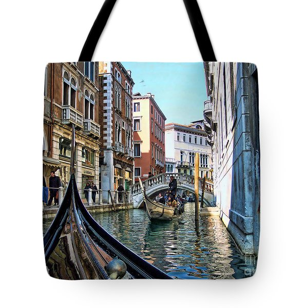 Tote Bag featuring the photograph Busy Canal by Roberta Byram