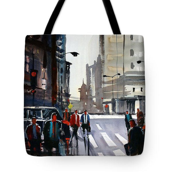 Busy City - Chicago Tote Bag by Ryan Radke