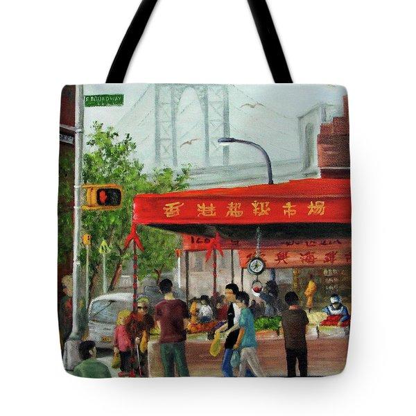Busy Corner Tote Bag