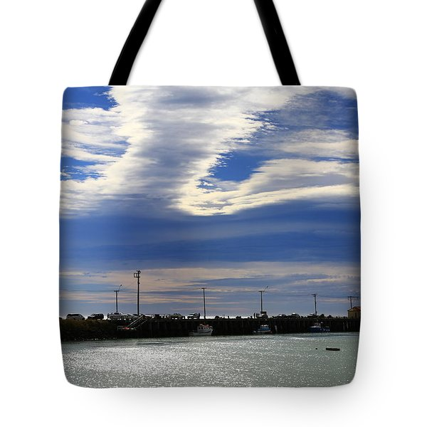 Tote Bag featuring the photograph Busy Day At The Wharf by Nareeta Martin