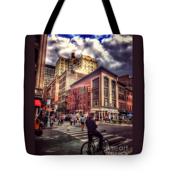 Busy Day In The City Tote Bag